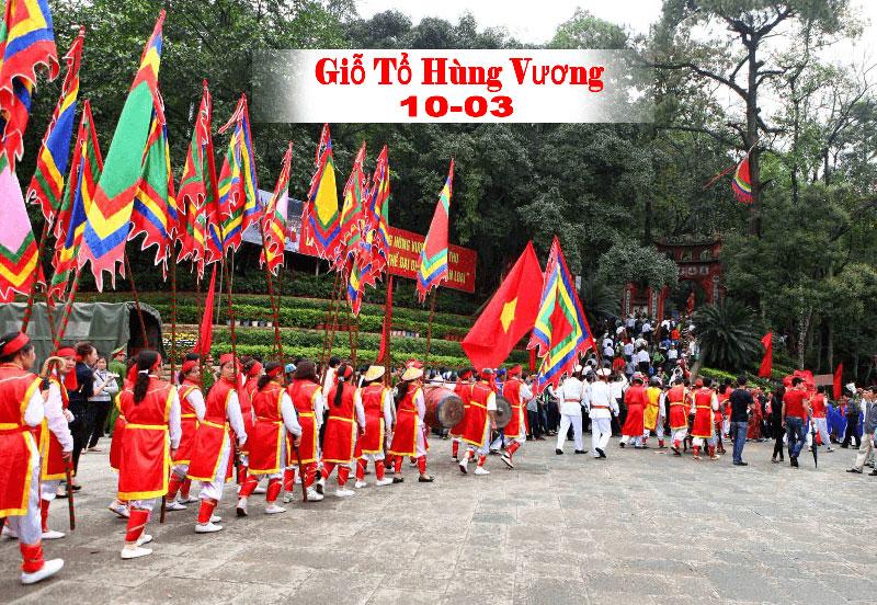 Giỗ tổ Hùng Vương ngày 10/03 âm lịch hàng năm