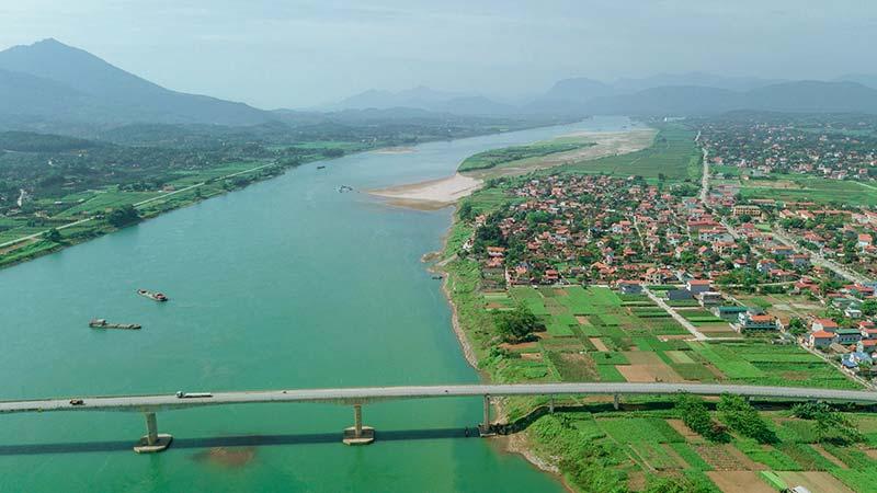 Sông Đà đoạn chảy qua huyện Thanh Thủy, tỉnh Phú Thọ