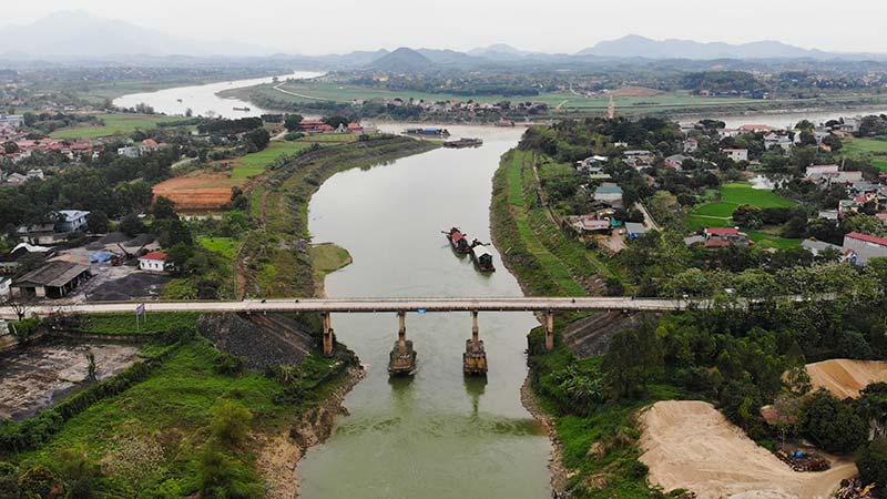 Sông Lô đoạn chảy qua huyện Đoan Hùng, Phú Thọ
