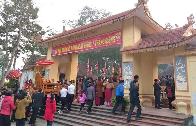 Đền Chu Hưng còn là tín ngưỡng thờ những vị vua Hùng có công dựng nước của nhân dân